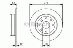 Комплект тормозных дисков BOSCH 0 986 479 A56 (2 шт.)