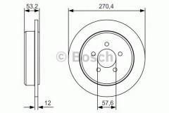 Комплект тормозных дисков BOSCH 0 986 479 A80 (2 шт.)