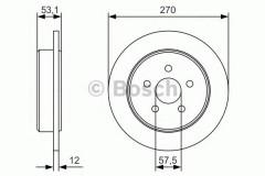 Комплект тормозных дисков BOSCH 0 986 479 B08 (2 шт.)
