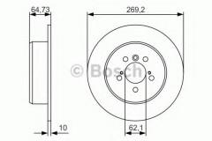 Комплект тормозных дисков BOSCH 0 986 479 R00 (2 шт.)
