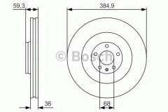 Комплект тормозных дисков BOSCH 0 986 479 R30 (2 шт.)