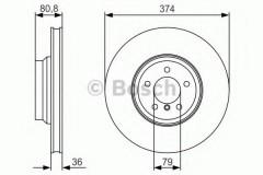 Комплект тормозных дисков BOSCH 0 986 479 R35 (2 шт.)