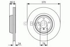 Комплект тормозных дисков BOSCH 0 986 479 R36 (2 шт.)