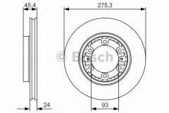 Комплект тормозных дисков BOSCH 0 986 479 R40 (2 шт.)