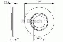 Комплект тормозных дисков BOSCH 0 986 479 R59 (2 шт.)