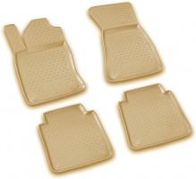 Коврики в салон для Audi A8 '03-10 полиуретановые, бежевые (Novline / Element)