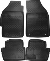 Коврики в салон для Chevrolet Spark '11- полиуретановые, черные (Novline / Element)