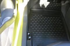 Фото 7 - Коврики в салон для Chevrolet Spark '11- полиуретановые, черные (Novline)