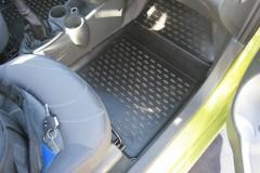 Фото 8 - Коврики в салон для Chevrolet Spark '11- полиуретановые, черные (Novline)