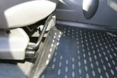 Фото 11 - Коврики в салон для Chevrolet Spark '11- полиуретановые, черные (Novline)