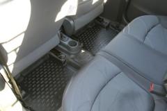 Фото 15 - Коврики в салон для Chevrolet Spark '11- полиуретановые, черные (Novline)