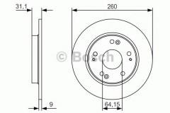 Комплект тормозных дисков BOSCH 0 986 479 V21 (2 шт.)