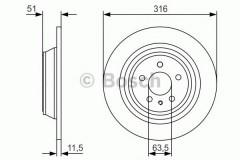 Комплект тормозных дисков BOSCH 0 986 479 V24 (2 шт.)