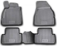 Коврики в салон для Renault Megane '02-08 полиуретановые, черные (Novline / Element)