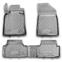 Коврики в салон для Peugeot 508 '11- полиуретановые, черные (Novline / Element)