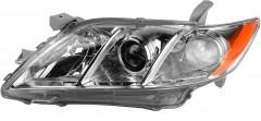 Фара передняя для Toyota Camry V40 '06-11 левая (DEPO) механич. америк. версия, хром