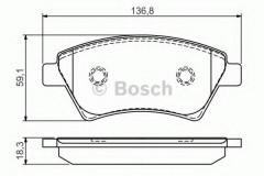 Тормозные колодки BOSCH 0 986 495 071, дисковые