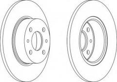 Комплект задних тормозных дисков FERODO DDF066 (2 шт.)