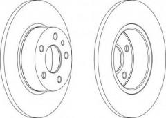 Комплект задних тормозных дисков FERODO DDF067 (2 шт.)