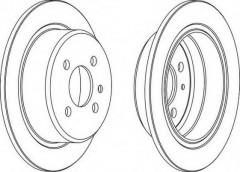 Комплект задних тормозных дисков FERODO DDF093 (2 шт.)