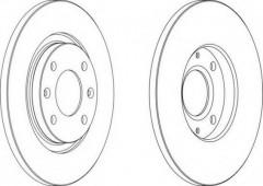 Комплект передних тормозных дисков FERODO DDF1000 (2 шт.)