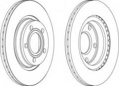 Комплект передних тормозных дисков FERODO DDF1003 (2 шт.)