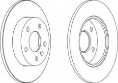 Комплект задних тормозных дисков FERODO DDF1044 (2 шт.)