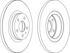 Комплект передних тормозных дисков FERODO DDF1057 (2 шт.)