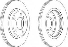 Комплект передних тормозных дисков FERODO DDF1066 (2 шт.)