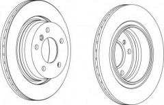 Комплект задних тормозных дисков FERODO DDF1073 (2 шт.)