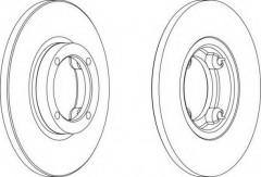 Комплект передних тормозных дисков FERODO DDF1076 (2 шт.)