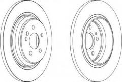 Комплект задних тормозных дисков FERODO DDF1099 (2 шт.)