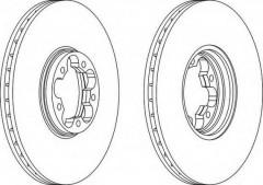 Комплект передних тормозных дисков FERODO DDF1112 (2 шт.)