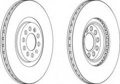 Комплект передних тормозных дисков FERODO DDF1118 (2 шт.)