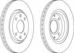 Комплект передних тормозных дисков FERODO DDF1140 (2 шт.)