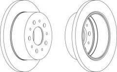 Комплект задних тормозных дисков FERODO DDF1144 (2 шт.)