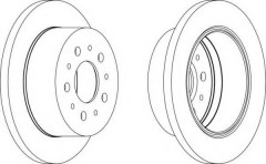 Комплект задних тормозных дисков FERODO DDF1145 (2 шт.)