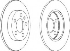 Комплект задних тормозных дисков FERODO DDF1155 (2 шт.)