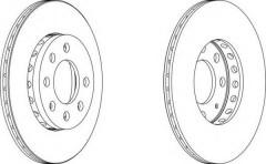 Комплект передних тормозных дисков FERODO DDF1161 (2 шт.)