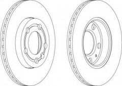Комплект передних тормозных дисков FERODO DDF1164 (2 шт.)