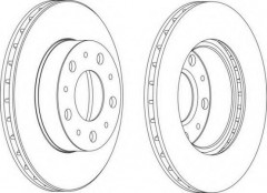 Комплект передних тормозных дисков FERODO DDF1171 (2 шт.)