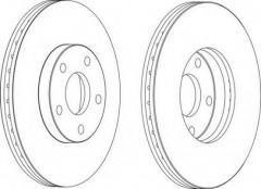 Комплект передних тормозных дисков FERODO DDF1172 (2 шт.)