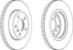 Комплект передних тормозных дисков FERODO DDF1174 (2 шт.)