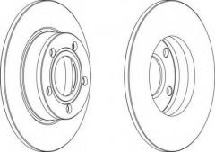 Комплект задних тормозных дисков FERODO DDF1177 (2 шт.)