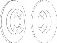 Комплект задних тормозных дисков FERODO DDF1178 (2 шт.)