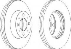 Комплект передних тормозных дисков FERODO DDF1179 (2 шт.)