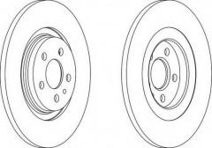 Комплект задних тормозных дисков FERODO DDF1181 (2 шт.)