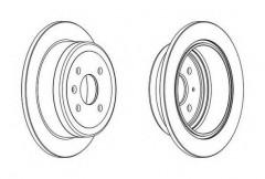 Комплект задних тормозных дисков FERODO DDF1187 (2 шт.)