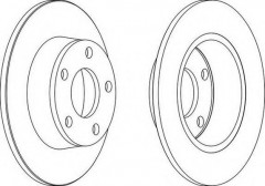 Комплект задних тормозных дисков FERODO DDF1190 (2 шт.)