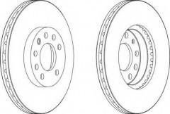 Комплект передних тормозных дисков FERODO DDF1191 (2 шт.)